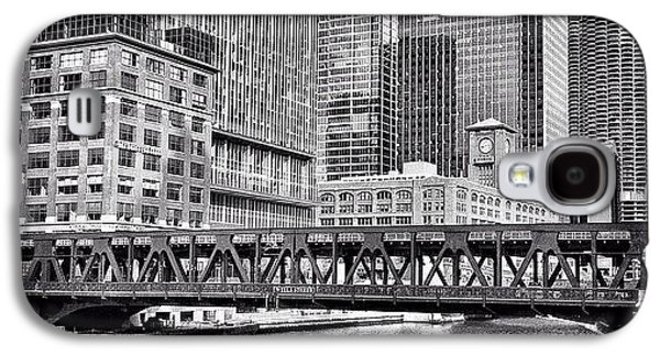 Wells Street Bridge Chicago Hdr Photo Galaxy S4 Case