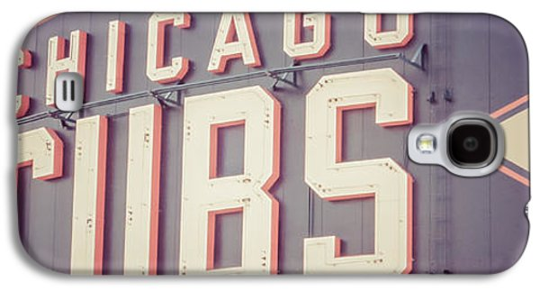 Chicago Cubs Sign Vintage Panoramic Picture Galaxy S4 Case by Paul Velgos