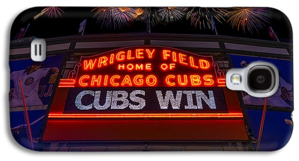 Chicago Cubs Win Fireworks Night Galaxy S4 Case by Steve Gadomski