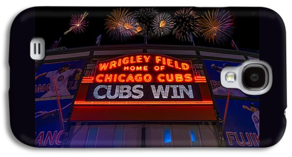Chicago Cubs Win Fireworks Night Galaxy S4 Case