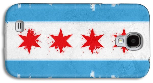 Chicago Flag Galaxy S4 Case by Mike Maher