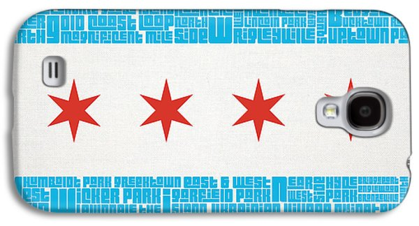 Chicago Flag Neighborhoods Galaxy S4 Case by Mike Maher