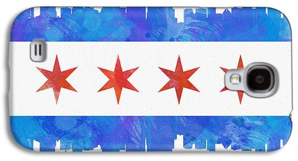 Chicago Flag Watercolor Galaxy S4 Case