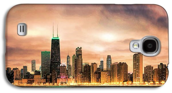 Chicago Gotham City Skyline Panorama Galaxy S4 Case by Christopher Arndt