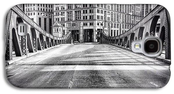 #chicago #hdr #bridge #blackandwhite Galaxy S4 Case by Paul Velgos