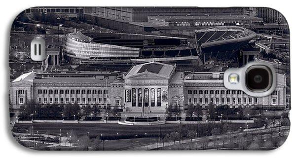 Chicago Icons Bw Galaxy S4 Case by Steve Gadomski