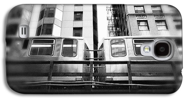 Chicago L Train In Black And White Galaxy S4 Case