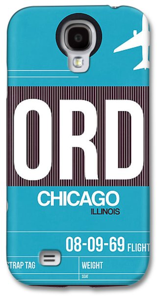 Chicago Luggage Poster 1 Galaxy S4 Case by Naxart Studio
