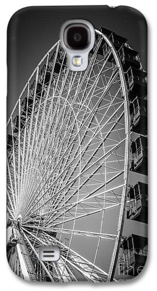 Chicago Navy Pier Ferris Wheel In Black And White Galaxy S4 Case