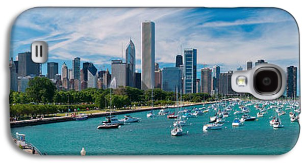 Lake Michigan Galaxy S4 Case - Chicago Skyline Daytime Panoramic by Adam Romanowicz