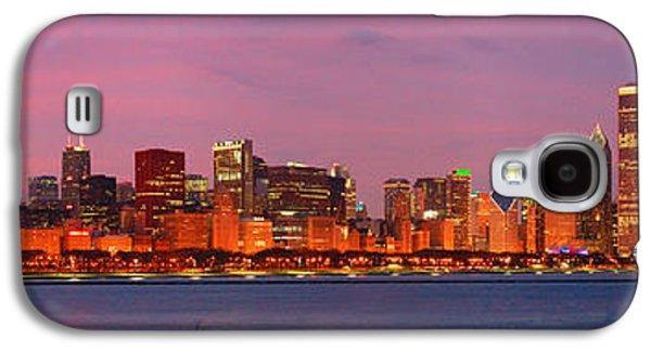 City Sunset Galaxy S4 Case - Chicago Skyline At Dusk 2008 Panorama by Jon Holiday