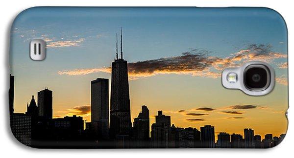 Chicago Skyline Silhouette Galaxy S4 Case