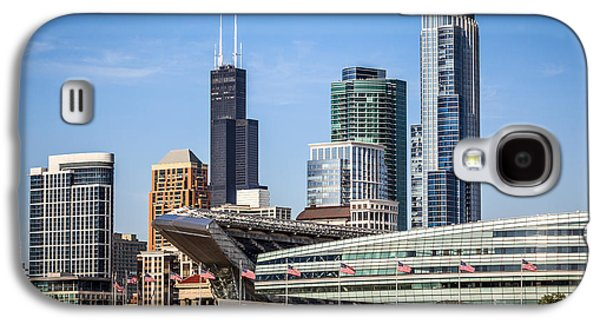 Chicago Skyline With Soldier Field And Sears Tower  Galaxy S4 Case by Paul Velgos