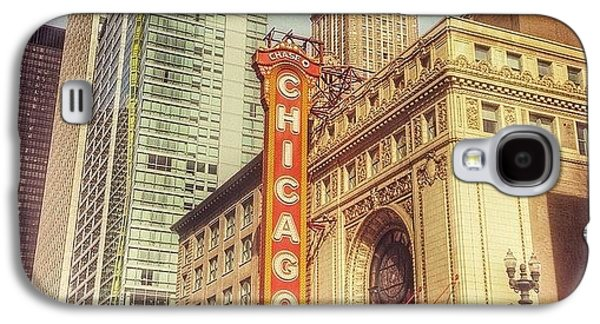 City Galaxy S4 Case - Chicago Theatre #chicago by Paul Velgos