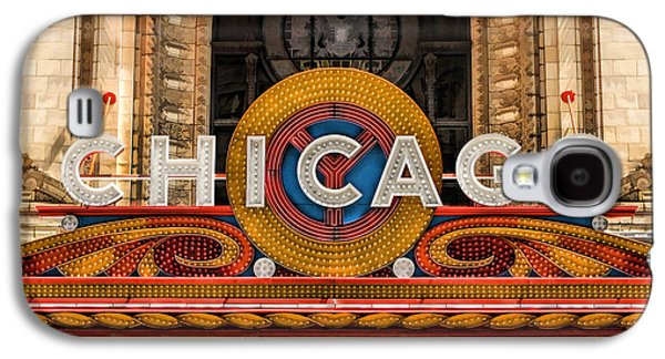 Chicago Theatre Marquee Sign Galaxy S4 Case by Christopher Arndt