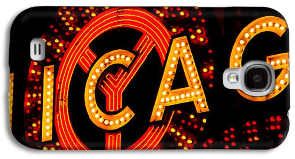 Chicago Theatre Sign Panorama Photo At Night Galaxy S4 Case by Paul Velgos