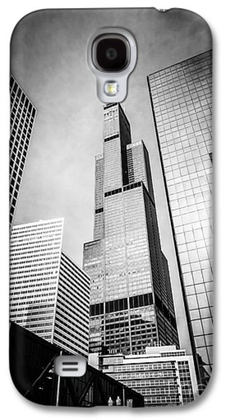 Chicago Willis-sears Tower In Black And White Galaxy S4 Case