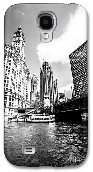 Chicago Wrigley Tribune Equitable Buildings Black And White Phot Galaxy S4 Case by Paul Velgos