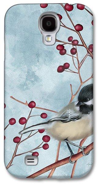 Chickadee I Galaxy S4 Case by April Moen