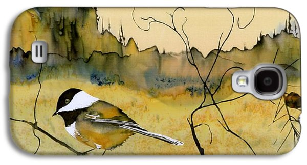 Chickadee In Dancing Pine Galaxy S4 Case by Carolyn Doe