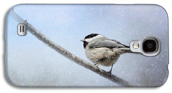 Chickadee In The Snow Galaxy S4 Case by Jai Johnson