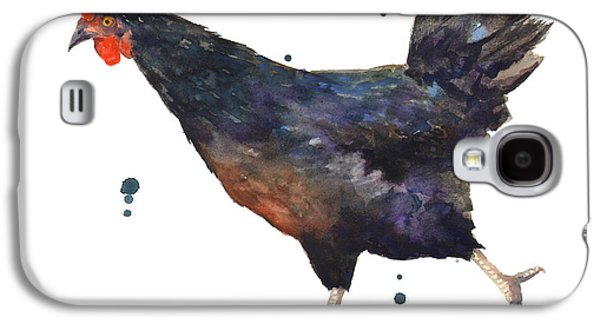 Chicken Chase Galaxy S4 Case by Alison Fennell