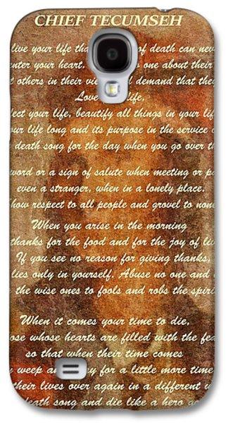 Chief Tecumseh Poem Galaxy S4 Case