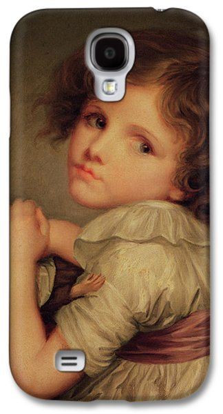 Child With A Doll Oil On Canvas Galaxy S4 Case by Anne Genevieve Greuze