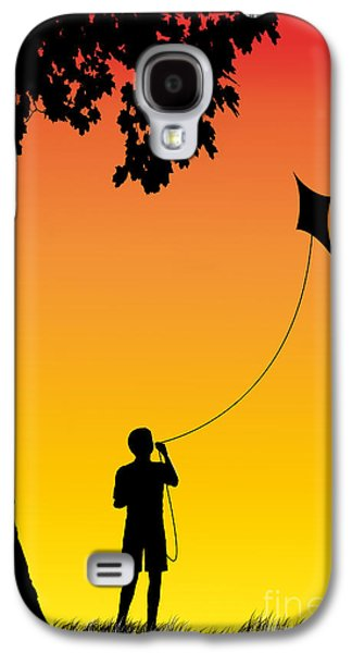 Childhood Dreams 1 The Kite Galaxy S4 Case by John Edwards