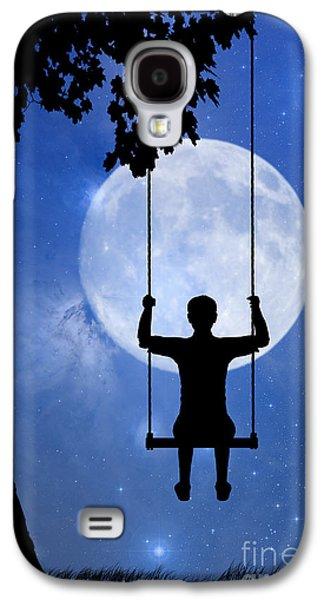 Childhood Dreams 2 The Swing Galaxy S4 Case by John Edwards