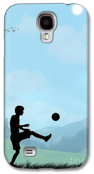 Childhood Dreams Football Galaxy S4 Case by John Edwards
