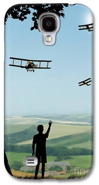 Childhood Dreams The Flypast Galaxy S4 Case by John Edwards