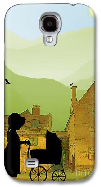 Childhood Dreams The Pram Galaxy S4 Case by John Edwards