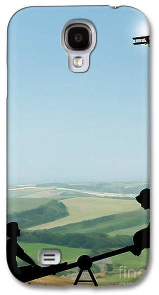 Childhood Dreams The Seesaw Galaxy S4 Case by John Edwards