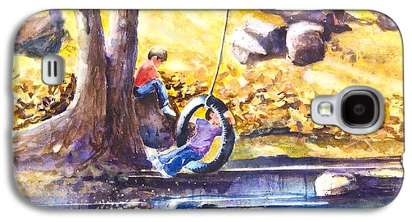 Children And The  Old Tire Swing Galaxy S4 Case