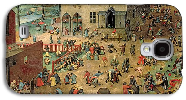 Childrens Games Kinderspiele, 1560 Oil On Panel Galaxy S4 Case by Pieter the Elder Bruegel