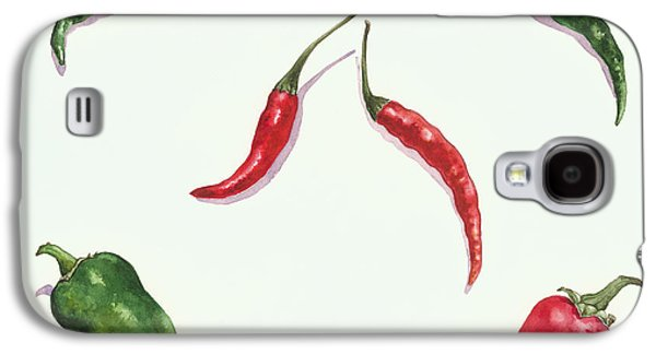 Chillies And Peppers Galaxy S4 Case by Alison Cooper