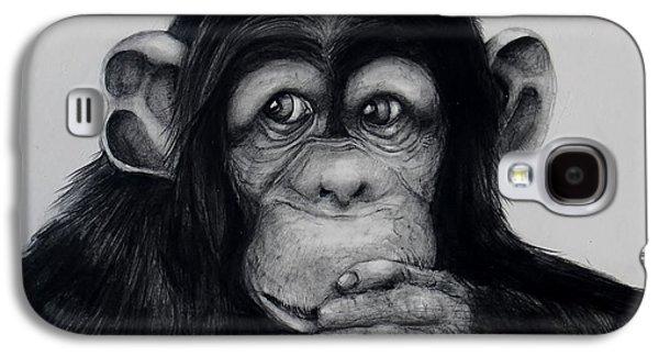 Chimp Galaxy S4 Case by Jean Cormier