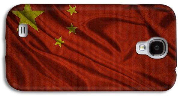 Chinese Flag Waving On Canvas Galaxy S4 Case by Eti Reid