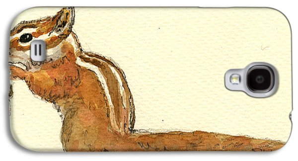 Squirrel Galaxy S4 Case - Chipmunk by Juan  Bosco