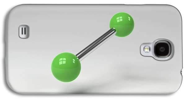 Chlorine Molecule Galaxy S4 Case by Indigo Molecular Images