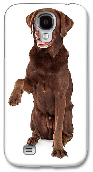 Chocolate Labrador Paw Extended Galaxy S4 Case