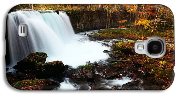Choushi - Ootaki Waterfall In Autumn Galaxy S4 Case