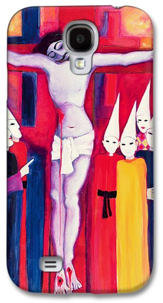 Christ And The Politicians, 2000 Acrylic On Canvas Galaxy S4 Case