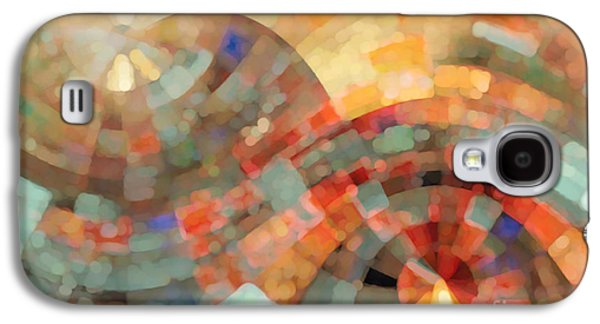 Purple Abstract Beige Galaxy S4 Cases - Christian Art- My Refuge Deuteronomy 33 27  Galaxy S4 Case by Mark Lawrence
