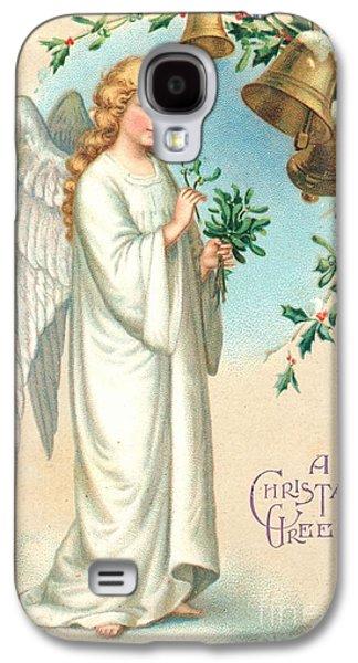 Christmas Angel Galaxy S4 Case by English School