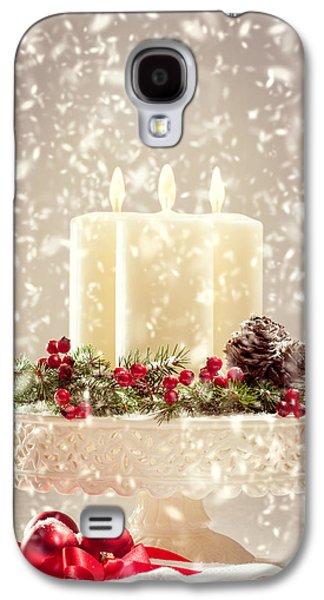 Christmas Candles Galaxy S4 Case by Amanda Elwell