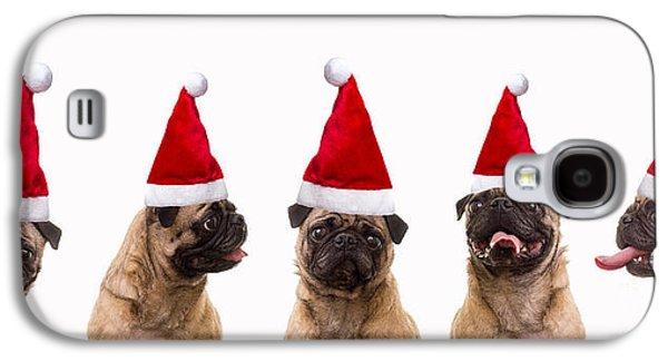 Christmas Caroling Dogs Galaxy S4 Case by Edward Fielding