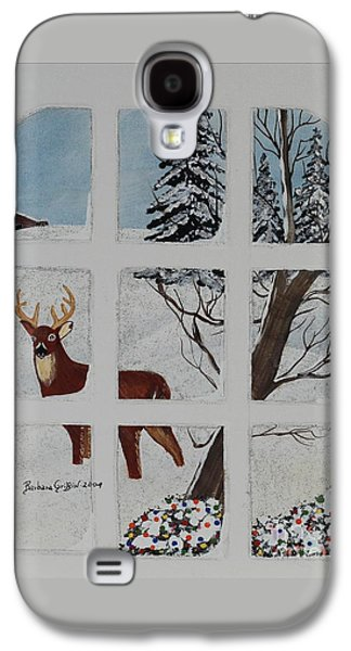 Christmas Deer  Galaxy S4 Case by Barbara Griffin
