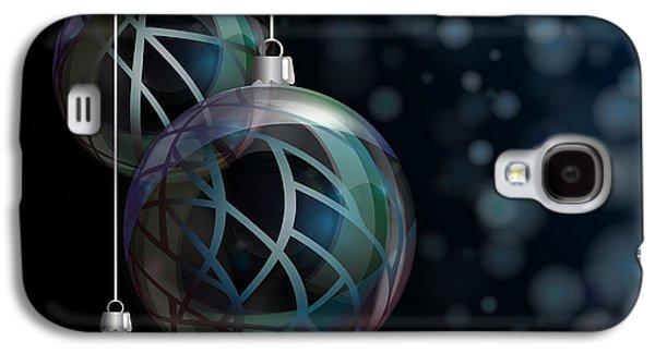 Christmas Elegant Glass Baubles Galaxy S4 Case by Jane Rix